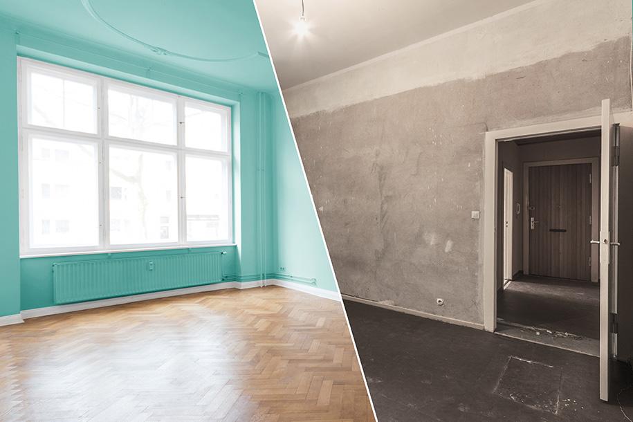Eine Wohnung vor und nach der Wohnungsauflösung – Talent Entrümpelung