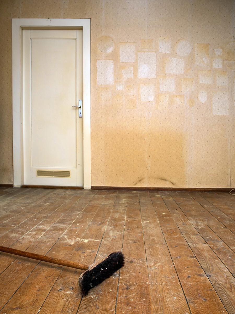 Eine entrümpelte Wohnung, die für Folgearbeiten noch nicht gereinigt wurde – Talent Entrümpelung